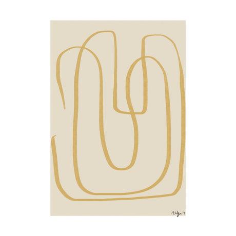 Paper Collective Poster Verschiedene Möglichkeiten I - Gelb Beige Gelb Papier 30x40cm