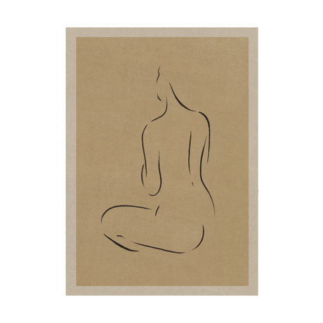 Paper Collective Grace III poster warm beige black paper 30x40cm