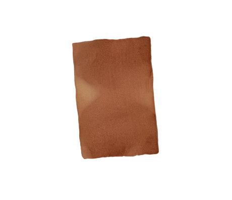 Paper Collective Affiche Ensõ - Papier blanc brun brûlé II 30x40cm