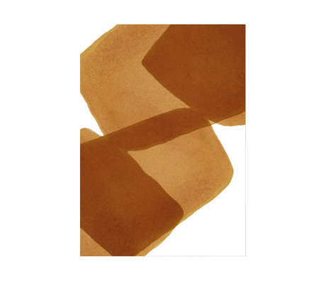 Paper Collective Poster Ensõ  - Burned I bruin wit papier 30x40cm