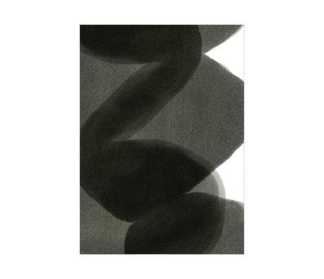 Paper Collective Affiche Ensõ - Papier noir noir noir II 30x40cm