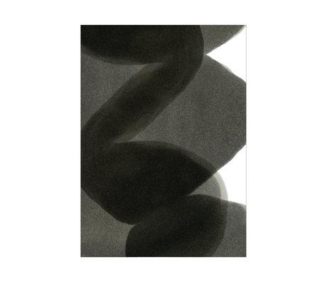 Paper Collective Poster Ensõ  - Black II zwart wit papier 30x40cm