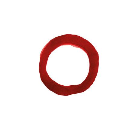Paper Collective Affiche Ensõ - Papier blanc rouge IV rouge 30x40cm