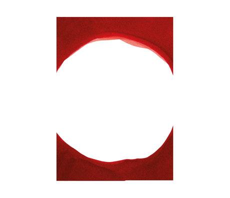 Paper Collective Affiche Ensõ - Papier blanc rouge III rouge 30x40cm