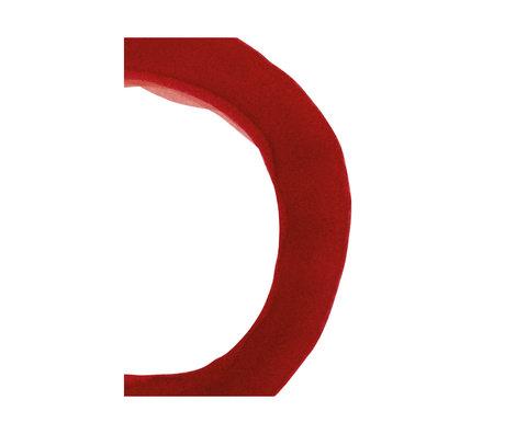 Paper Collective Affiche Ensõ - Papier blanc rouge II rouge 30x40