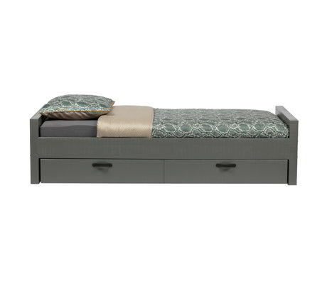 WOOOD Bed Morris clay gray pine 214x95x53cm