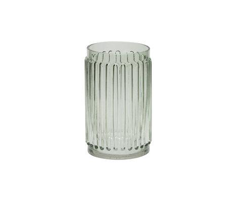 BePureHome Vase Ridges green glass 22x14x14cm