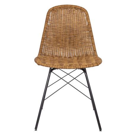 BePureHome Chair Spun natural rattan set of 2 53x46x85cm