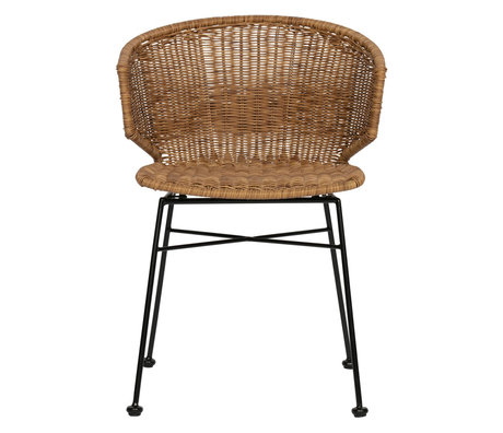 LEF collections Chair Noor natural rattan 55x54x76cm