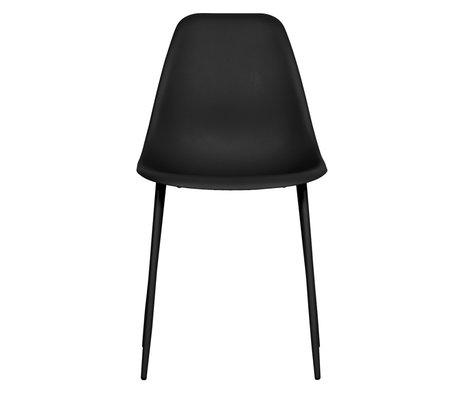 LEF collections Chaise de salle à manger Lexi plastique noir lot de 2 46x54x83cm