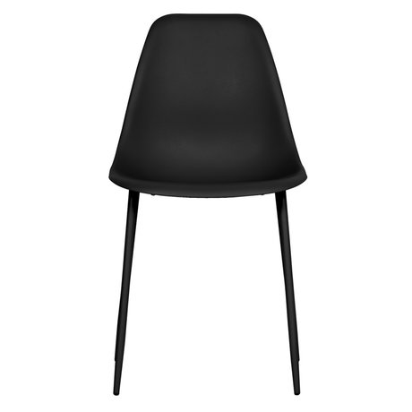 LEF collections Esszimmerstuhl Lexi schwarz Kunststoff Set von 2 46x54x83cm