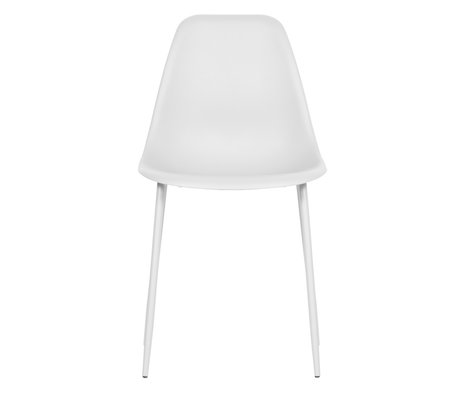 LEF collections Dining room chair Lexi white plastic set of 2 46x54x83cm