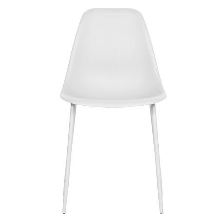 LEF collections Chaise de salle à manger Lexi plastique blanc lot de 2 46x54x83cm