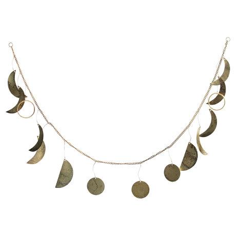 BePureHome Garland Shackle Antik Messing Gold Metall 18x120x1cm