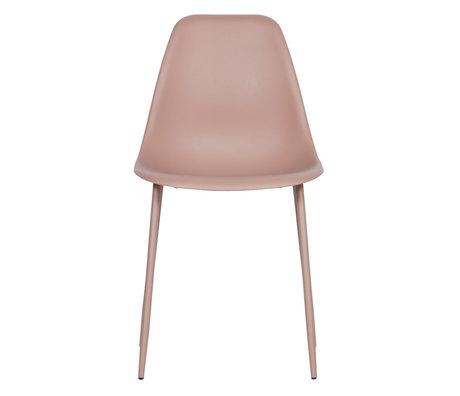 LEF collections Chaise de salle à manger Lexi plastique rose lot de 2 46x54x83cm