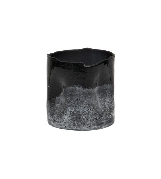 Mattiertes Schwarz Weiß Glas 10x10cm