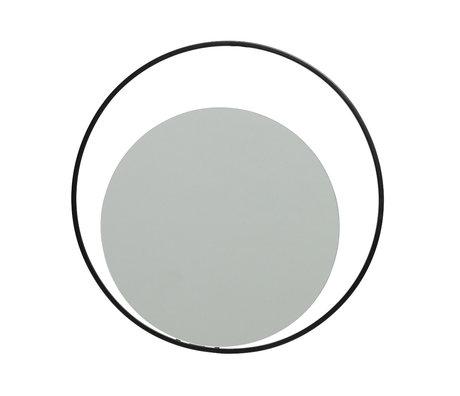 LEF collections Spiegel Luella zwart metaal 30x1x30cm