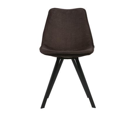 LEF collections Chaise de salle à manger Swen velours anthracite lot de 2 50x61,5x84,5 cm