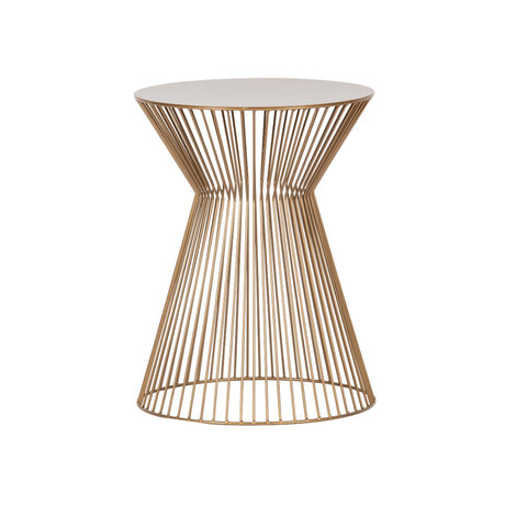 LEF collections Side table Suus gold metal Ø35x46cm