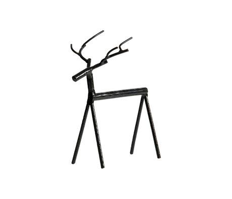 BePureHome Deco-object Rudolph XL zwart metaal 21x13x25cm