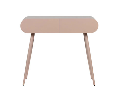 LEF collections Sidetable with drawers Flo pink MDF 90x35x79cm