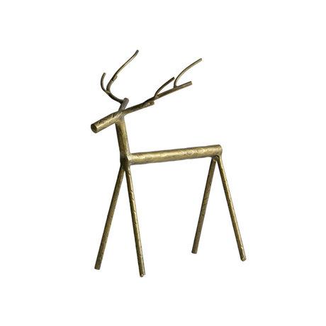 BePureHome Deco-object Rudolph XL goud metaal 21x13x25cm