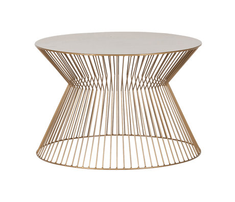 LEF collections Couchtisch Suus Gold Metall Ø60x40cm