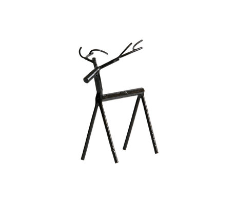 BePureHome Objet déco Rudolph L métal noir 16x10x19cm