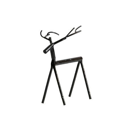 BePureHome Deco-object Rudolph L zwart metaal 16x10x19cm