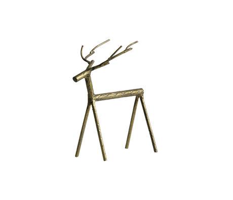 BePureHome Objet déco Rudolph L métal doré 16x10x19cm