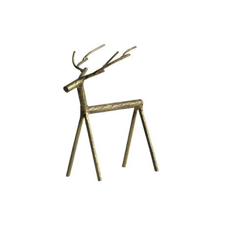 BePureHome Deco-object Rudolph L goud metaal 16x10x19cm