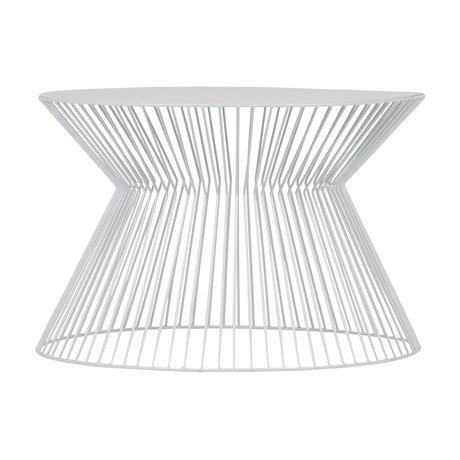 LEF collections Table basse Suus en métal blanc Ø60x40cm