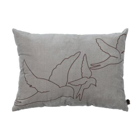 BePureHome Cushion Avaler khaki brown cotton 40x55cm