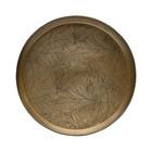 BePureHome Tray Notch antique brass gold iron Ø44x9cm