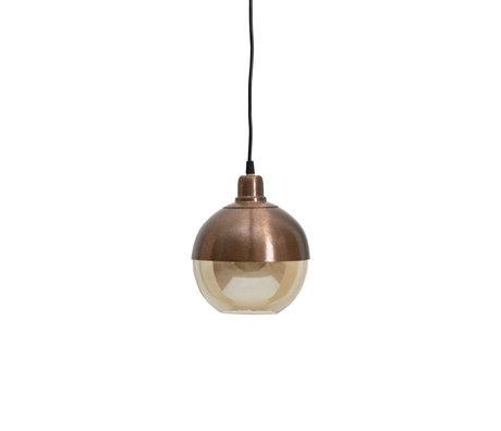 BePureHome Hanglamp Split bruin glas ijzer 18x18x22cm