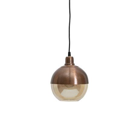 BePureHome Lampe à suspension Split verre brun fer 22x18x18cm