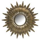 BePureHome Spiegel Bekenne antikes Messingmetall Ø41cm