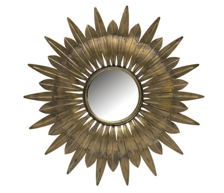 BePureHome Mirror Confess antique brass metal Ø41cm