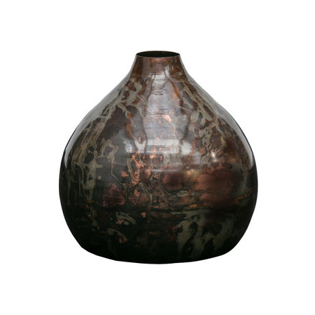 BePureHome Vase Sludge multicolour metal Ø32cm