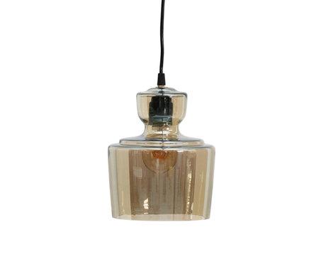 BePureHome Hängelampe Dampf antikes Messing Goldglas Ø17x24cm
