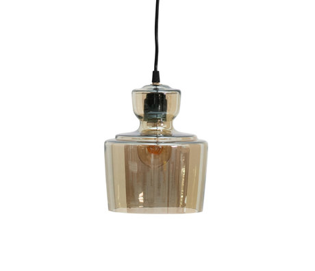 BePureHome Hanging lamp Steam antique brass gold glass Ø17x24cm