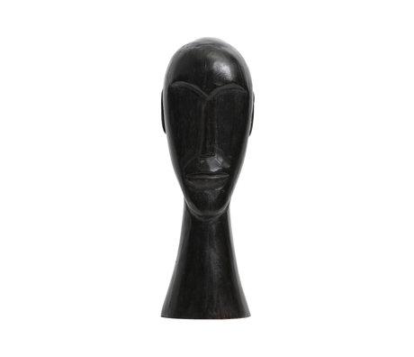 BePureHome Ornement Headman L bois de manguier noir 38x12x11cm
