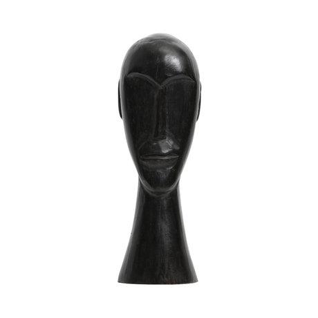 BePureHome Ornament Headman L zwart mango hout 12x11x38cm