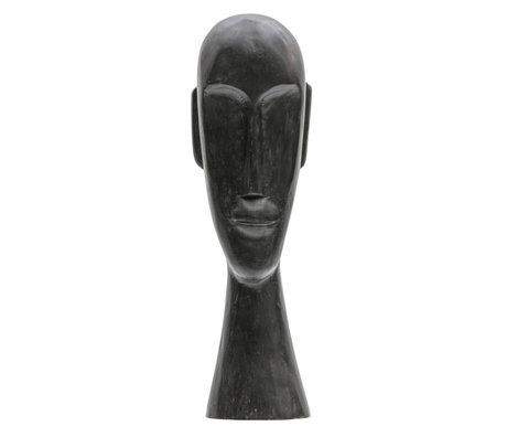 BePureHome Ornament Headman XL zwart mango hout 17x13x52cm