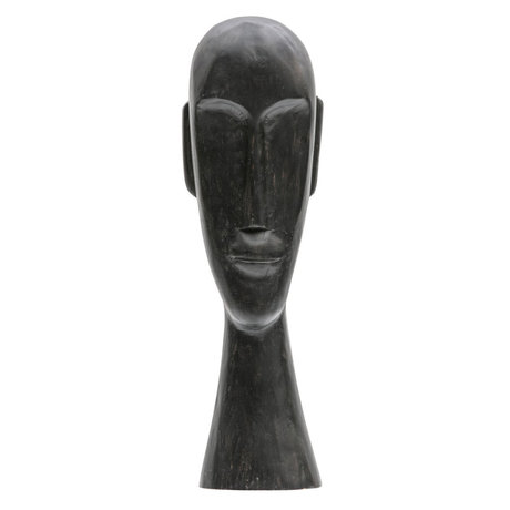 BePureHome Ornament Headman XL black mango wood 52x17x13cm