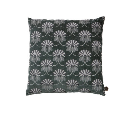 BePureHome Coussin Floral gris coton 48x48cm