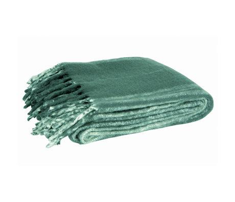 LEF collections Plaid Ferre groen textiel 170x130cm