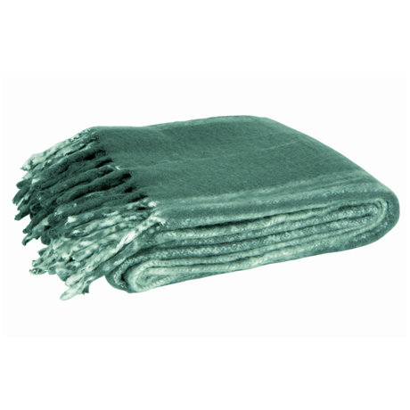 LEF collections Throw Ferre green textile 130x170cm