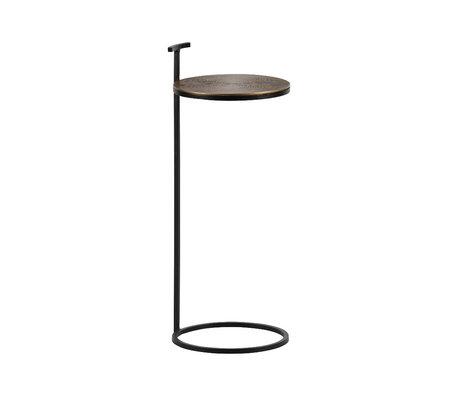 BePureHome Table d'appoint position antique laiton doré fer aluminium 64x26x26cm