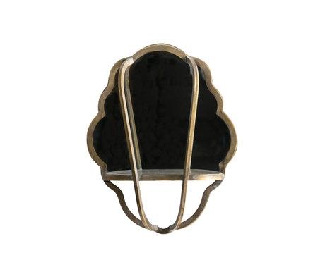 BePureHome Miroir Reflect laiton antique fer doré 51x40x11cm